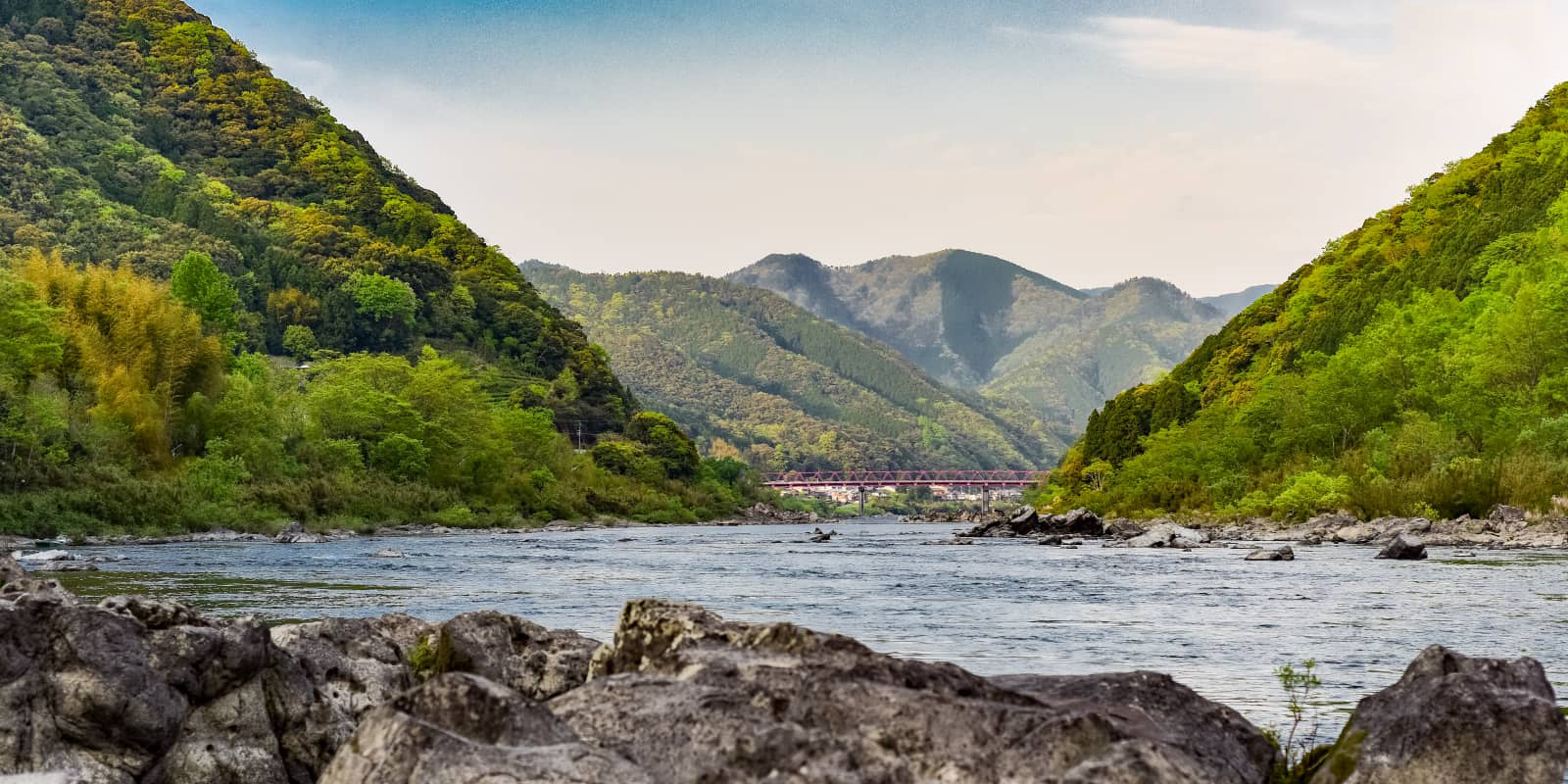 """แม่น้ำชิมันโตะ (Shimanto River)"""" ในจังหวัดโคชิ (Kochi)"""