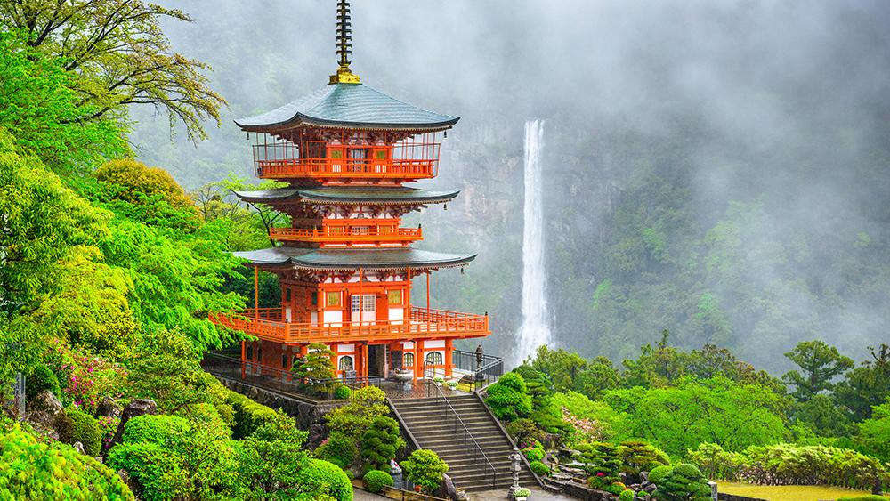 น้ำตกใหญ่ที่สุดของญี่ปุ่น วากายามะ Nachi Falls