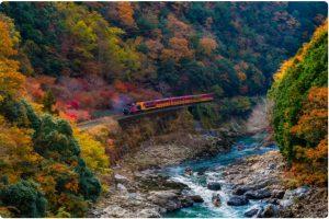 รถไฟสายโรแมนติก The Sagano Railway